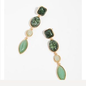 Free people magnolia stone earring